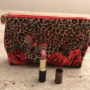 Estée Lauder lipstick and matching make up pouch